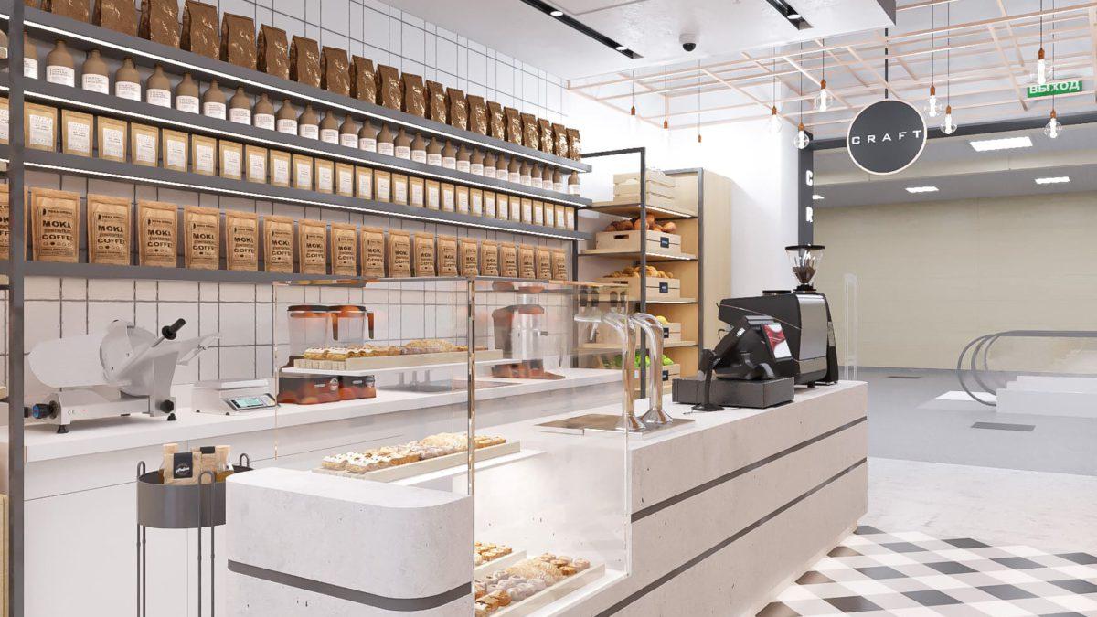 Кафе с элементами магазина 76 м.кв