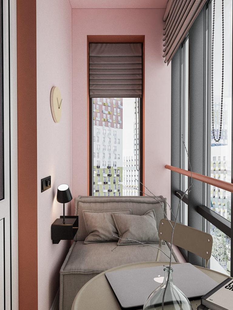 Балконное пространство 2,66 м.кв